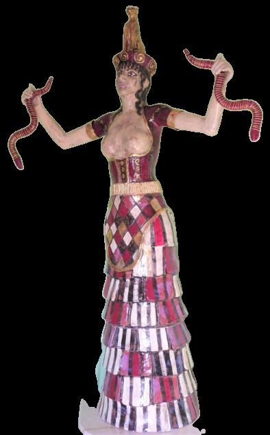Schlangengöttin ohne Hintergrund 1
